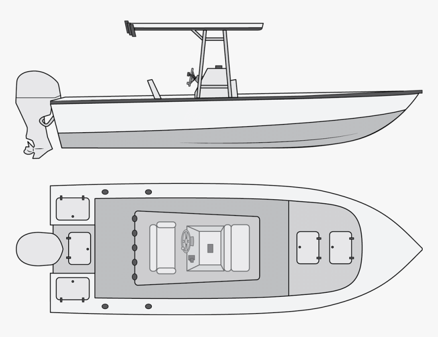 Download Types Of Fishing Boats Center Console Fishing Boat Drawings Hd Png Download Kindpng