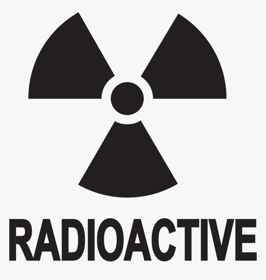 Radioactive Decay Hazard Symbol Radiation Biological - Radioactive Symbol Clip Art, HD Png Download, Free Download