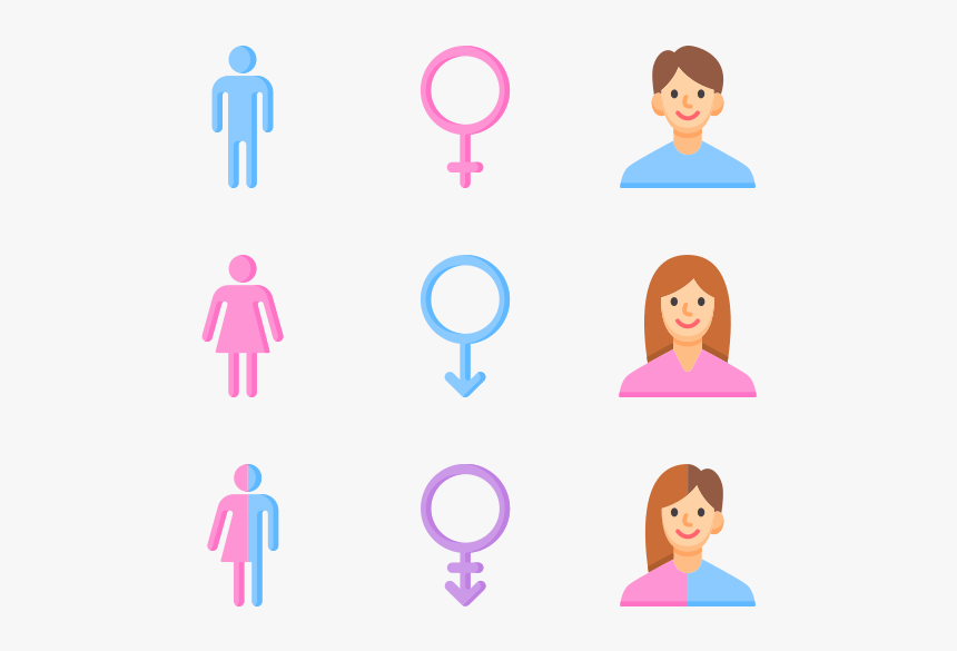 gender identity male female vector icon hd png download kindpng gender identity male female vector