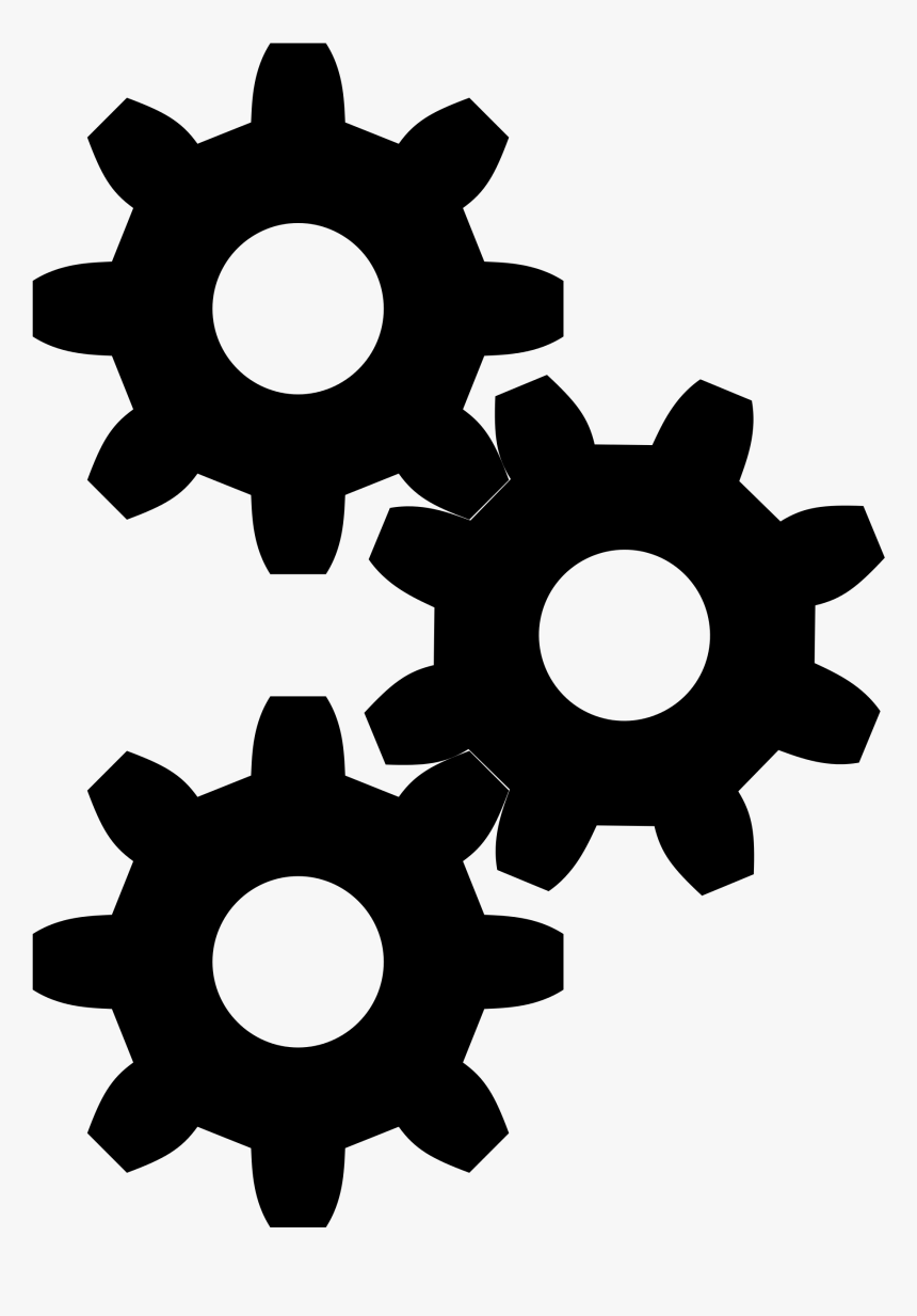 Gear Png Black And White - Gears Icon Grey, Transparent ...