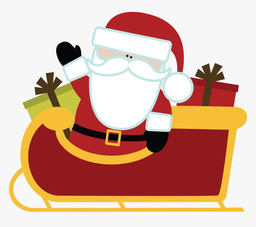 Transparent Santas Sleigh Clipart Christmas Santa With Sleigh Clipart Hd Png Download Kindpng