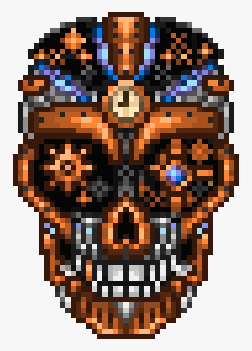 Pixilart Cog Lord Boss - Terraria Pixel Art Bosses, HD Png Download, Free Download