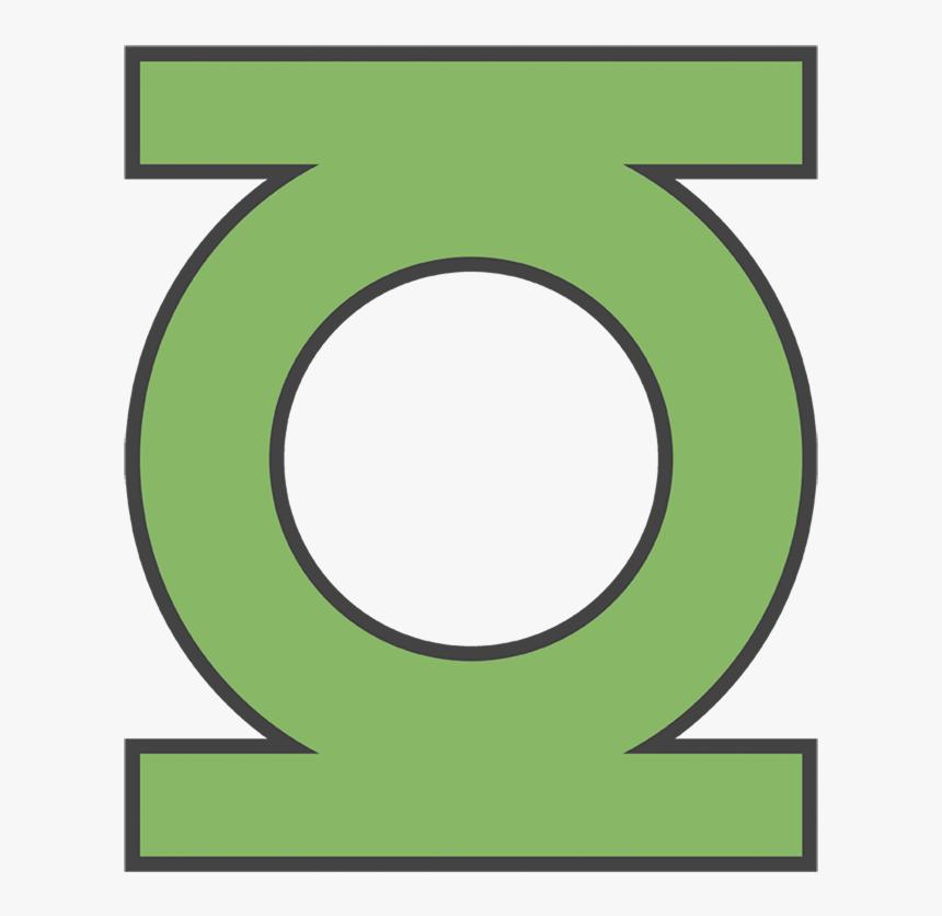 "Dc Comics Gl Emblem Men""s Heather T-shirt - Green Lantern Superhero Logo, HD Png Download, Free Download"