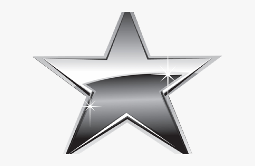 Platinum Star Cliparts - Silver Star Png, Transparent Png, Free Download
