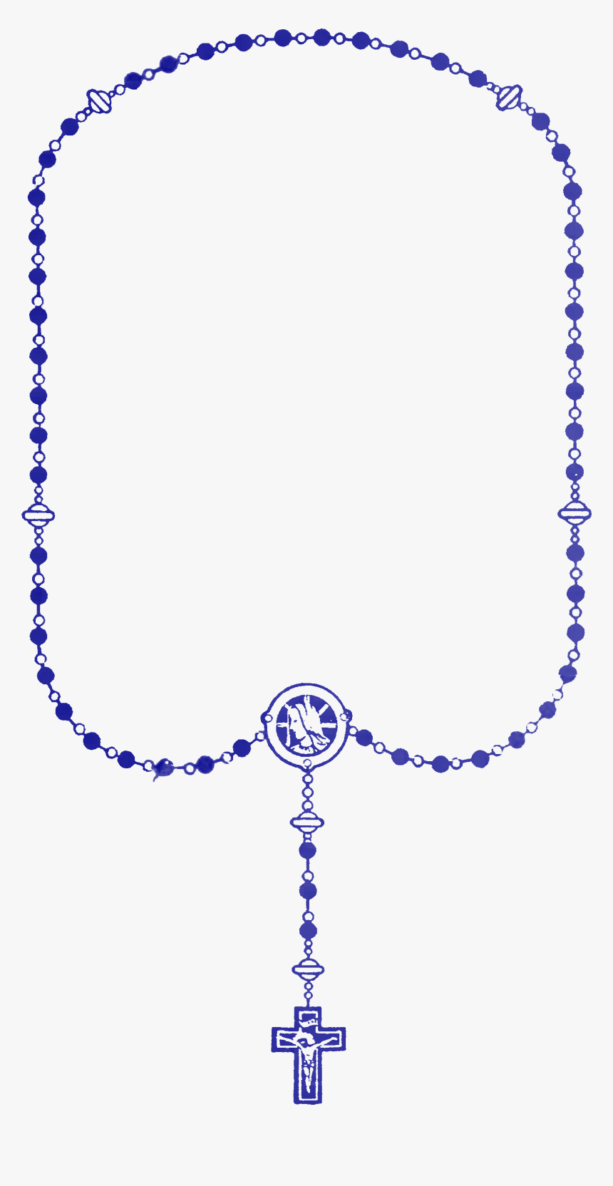 File - Rosary-blue - Blue Rosary Clip Art, HD Png Download, Free Download