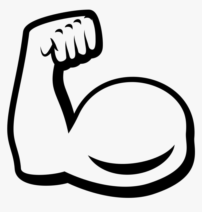 Biceps Drawing Art - Transparent Background Muscle Emoji, HD Png Download, Free Download