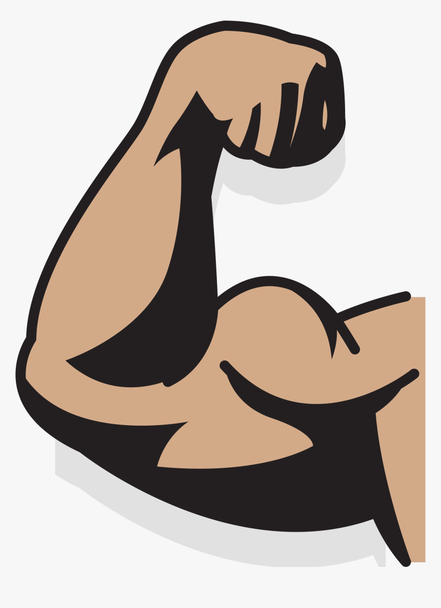Clip Art Collection Of Free Drawing - Cartoon Muscle Arm Transparent, HD Png Download, Free Download