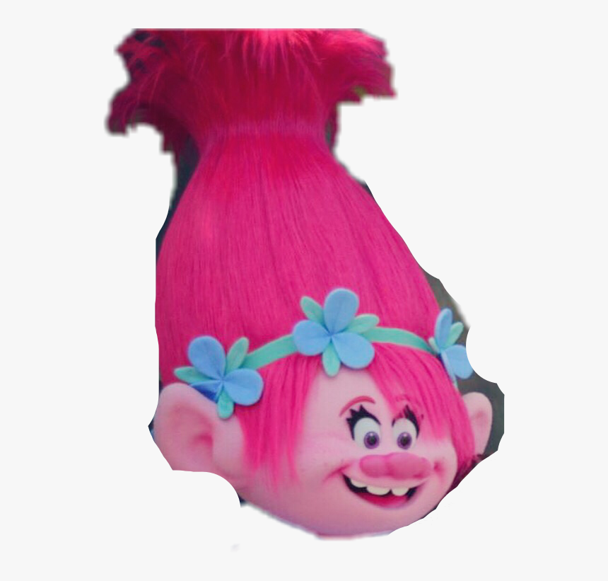 #poppy #pop #troll #hair #cabelo #trolls #flor #pink - Doll, HD Png Download, Free Download