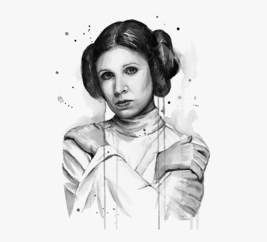 Transparent Princess Leia Png - Princess Leia Artwork, Png Download, Free Download