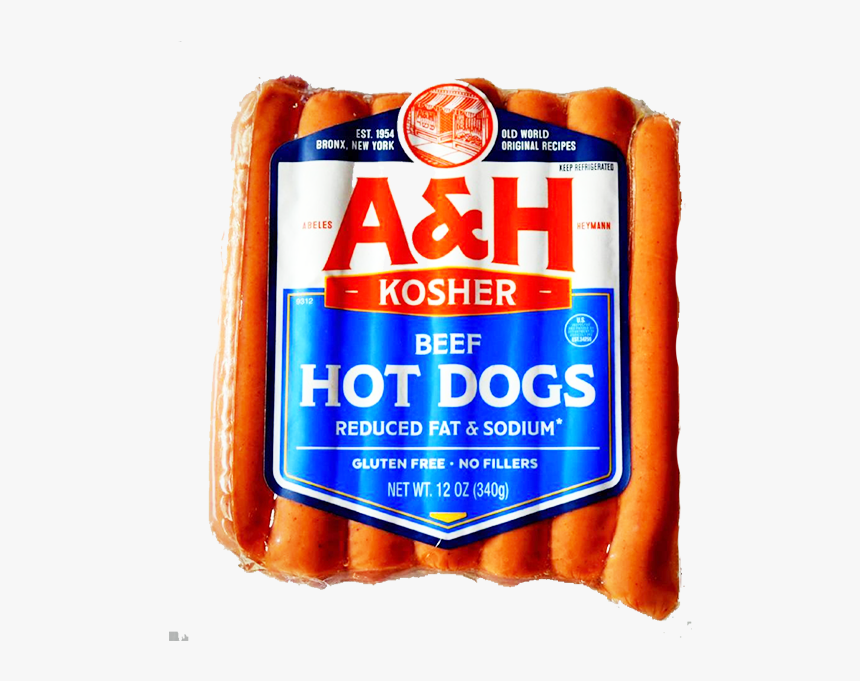 A&h Uncured Reduced Fat Hot Dogs - Beef, HD Png Download, Free Download