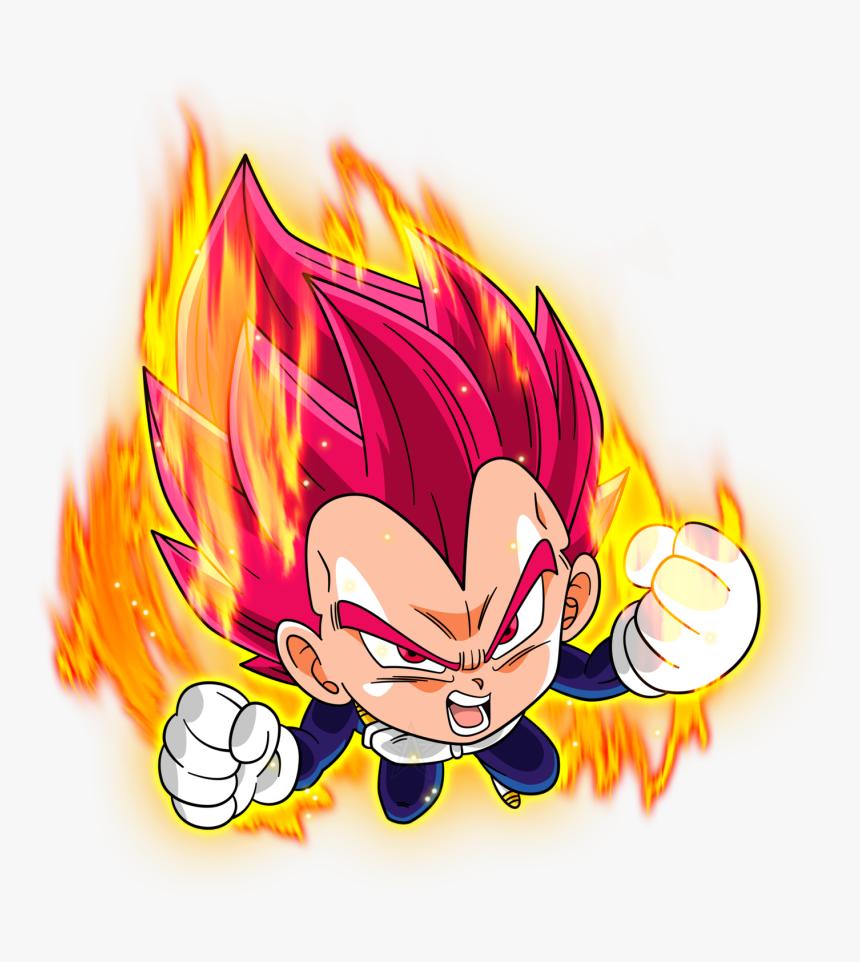 Transparent Flame Super Saiyan - Vegeta Super Saiyan God Chibi, HD Png Download, Free Download