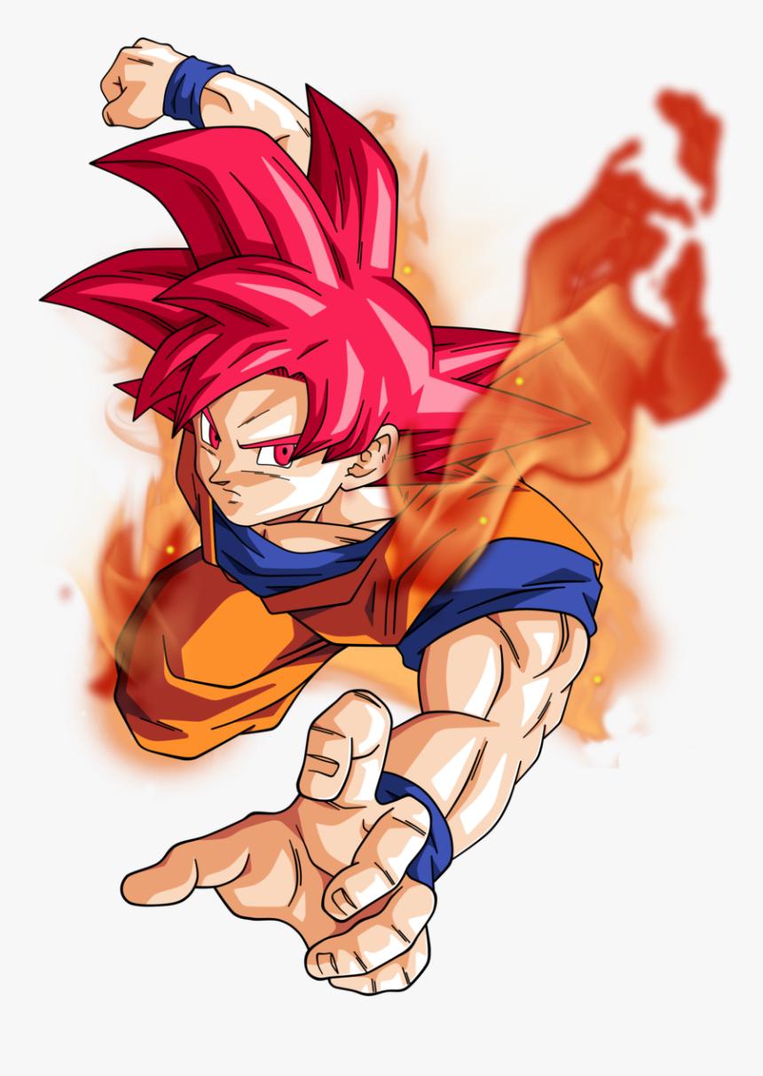 Goku Super Saiyan God Png, Transparent Png, Free Download