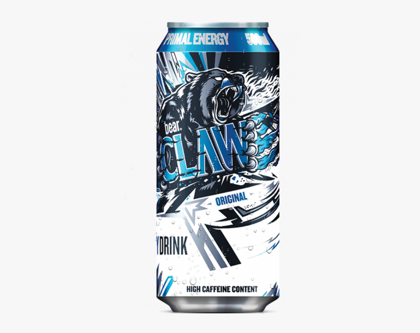 Primal Energy Bear Claw Original - Bear Claw Energy Drink, HD Png Download, Free Download