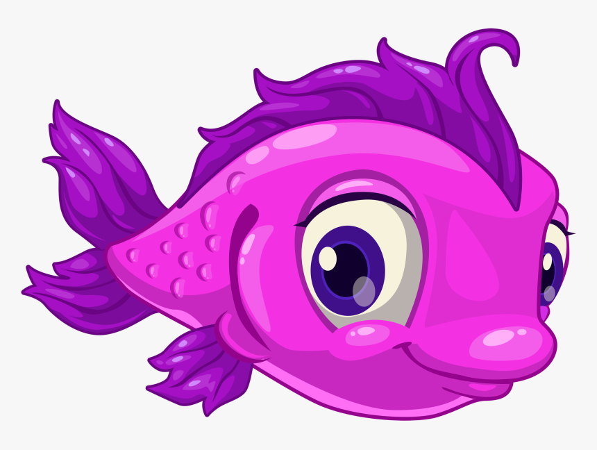 Cute Fish Cartoon Cute Purple Fish Clipart Hd Png Download Kindpng