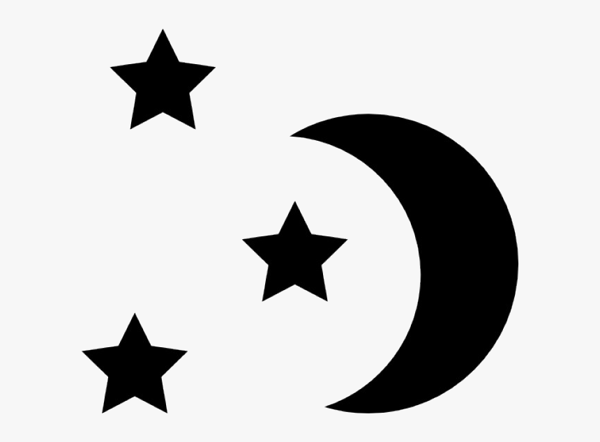 Silhouette Vector Graphics Stock Illustration Stock - Black Moon And Stars Clipart, HD Png Download, Free Download