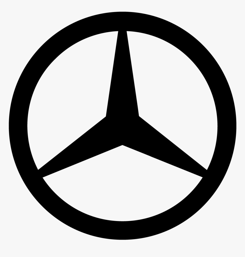 Mercedes Benz Logo Symbol Three Pointed Star Black - Mercedes Benz Logo Red, HD Png Download, Free Download
