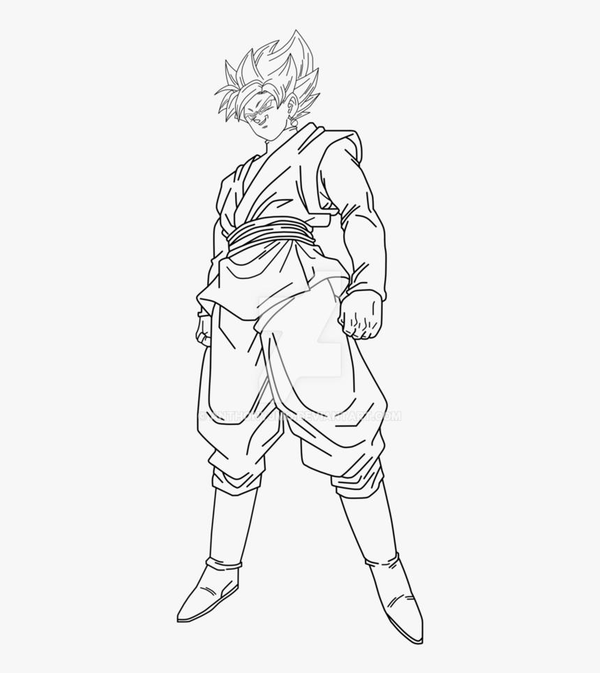 Goku Black Super Saiyan Rose Drawing Goku Black Coloring Pages Hd Png Download Kindpng
