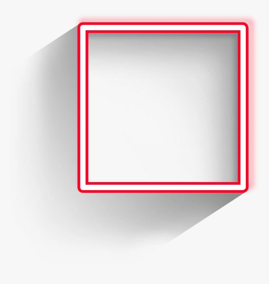 #square #freetoedit #frame #red #border #geometric - Pink Square Frame Transparent, HD Png Download, Free Download