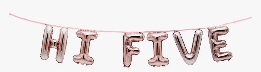 Hi Five 5th Birthday Decorations Balloon Banner Set - Body Jewelry, HD Png Download, Free Download