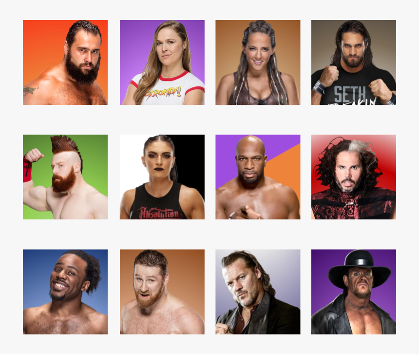 Rusev Ronda Rousey Sarah Logan Seth Rollins Sheamus - Barechested, HD Png Download, Free Download
