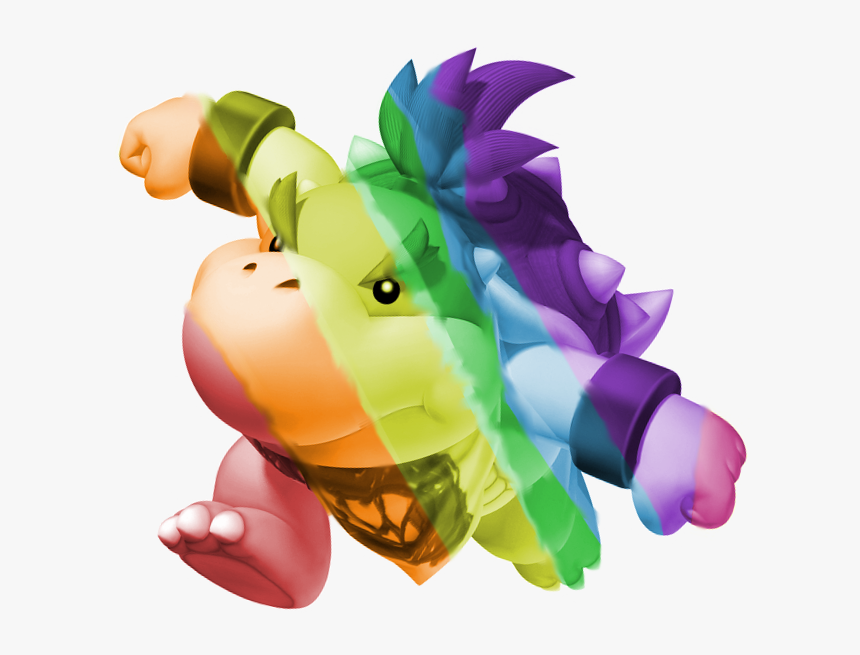 Rainbow Bowser Jr Dark Dry Bowser Jr Hd Png Download