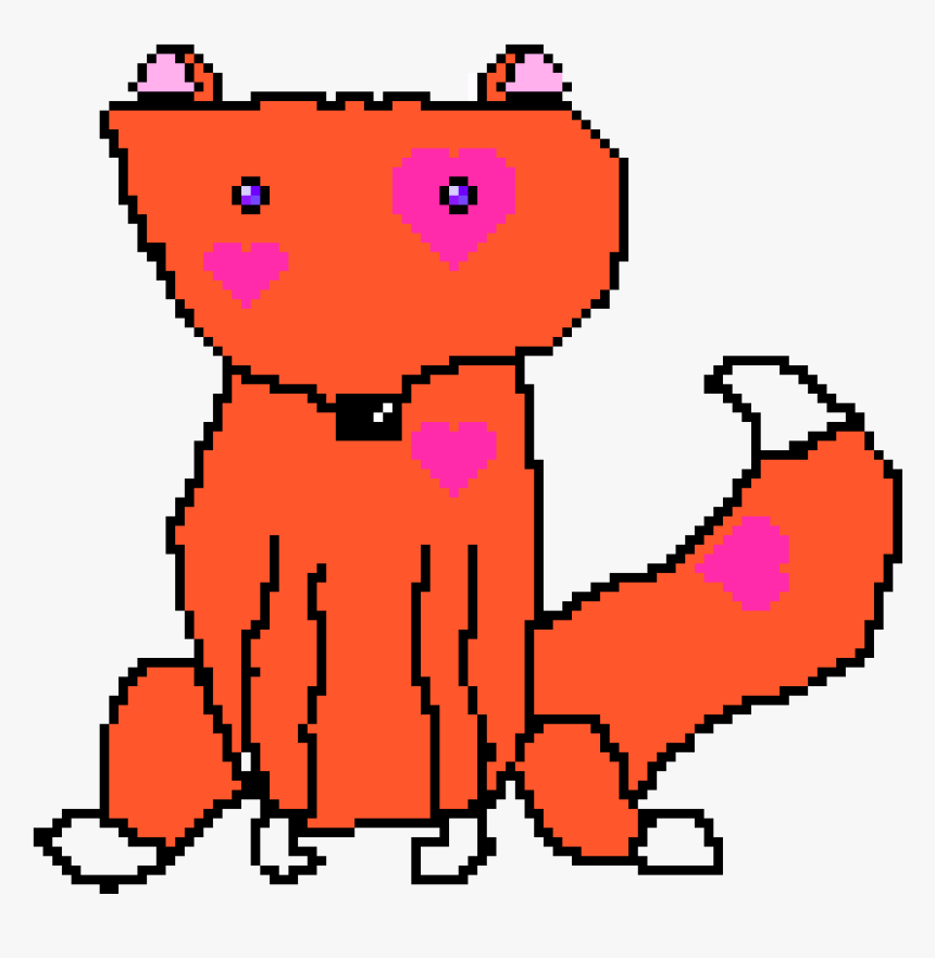 Pixel Art Cute Foxes, HD Png Download, Free Download