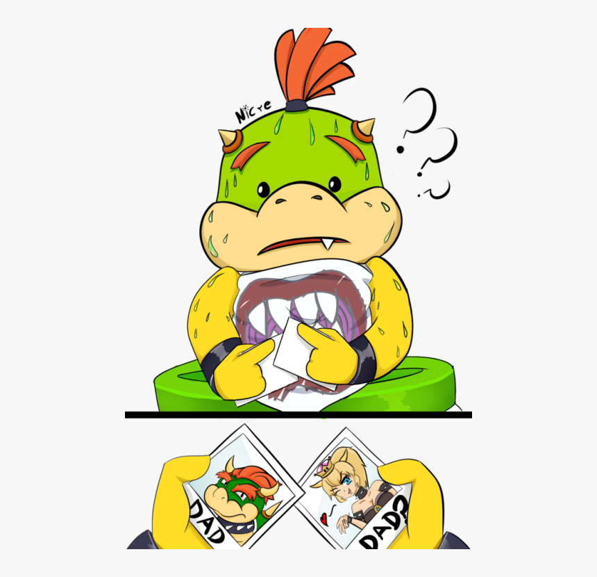 Isabelle And Bowser Jr Hd Png Download Kindpng