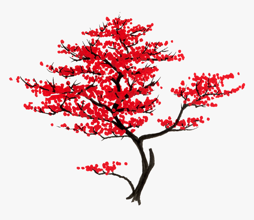 Japanese Tree, File Type, - Japanese Maple Tree Clipart, HD Png Download, Free Download