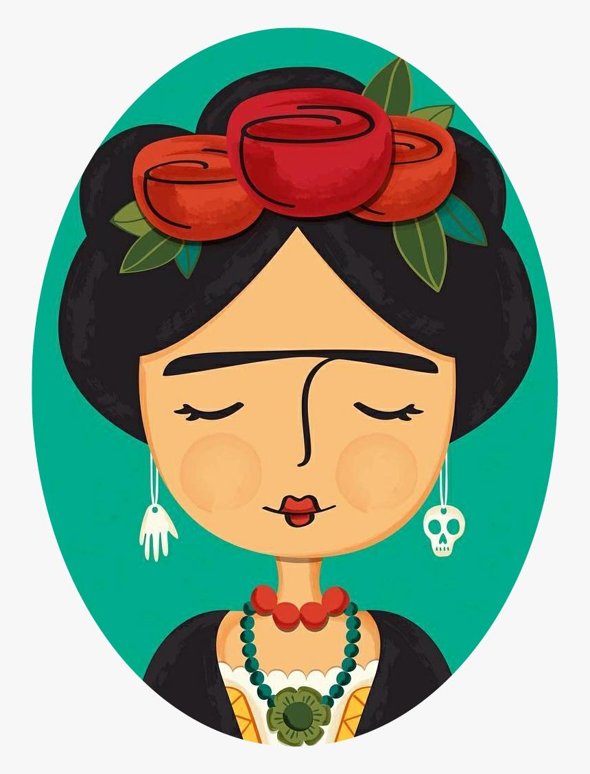 Transparent Frida Kahlo Clipart - Dibujos De Frida Kahlo Animados, HD Png Download, Free Download