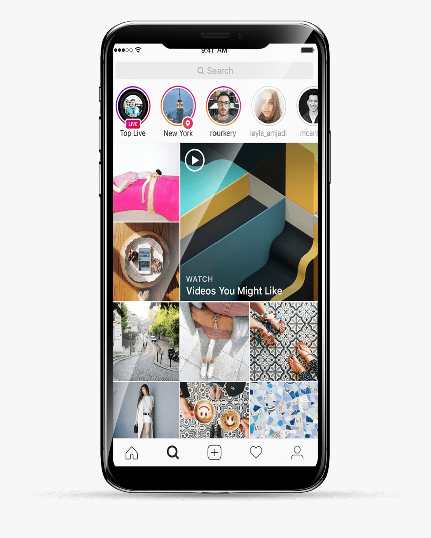 Iphone Explore Page Instagram, HD Png Download, Free Download