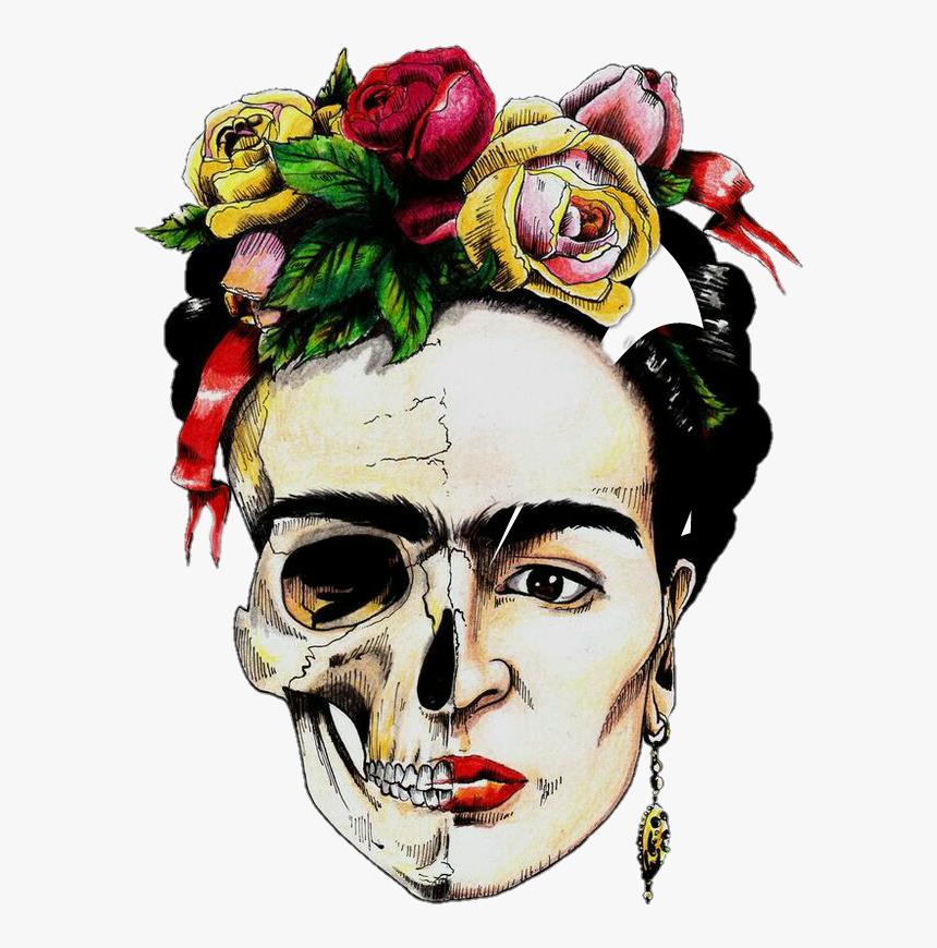 Colorful Frida Kahlo Fridakahlo Beautiful Mexicanskull - Frida Kahlo, HD Png Download, Free Download