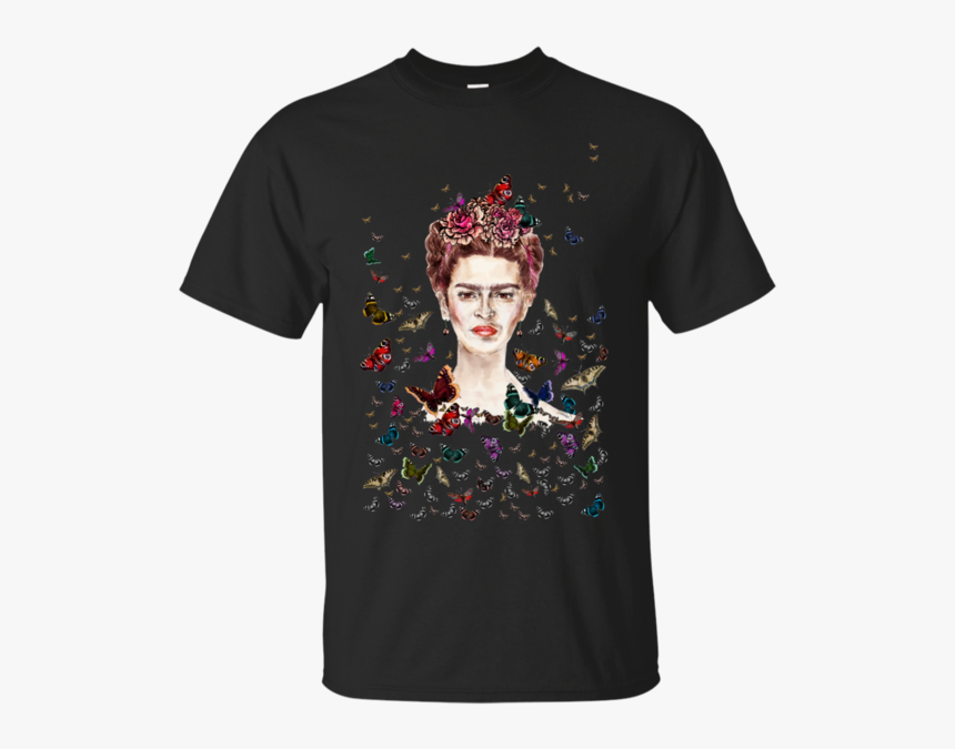Frida Kahlo Mexico T Shirt & Hoodie - Frida Kahlo Flowers Butterflies, HD Png Download, Free Download