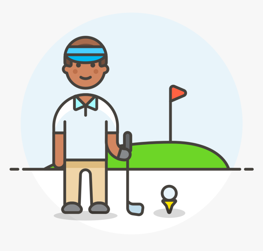 Golfer Male Icon - Cartoon, HD Png Download, Free Download