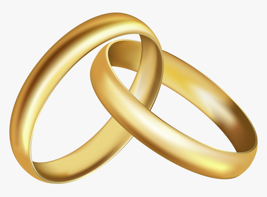 Wedding Rings Clipart, HD Png Download - kindpng