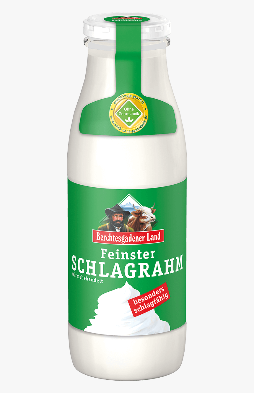 Finest Whipped Cream, 500 G Bottle - Berchtesgadener Land Sahne, HD Png Download, Free Download