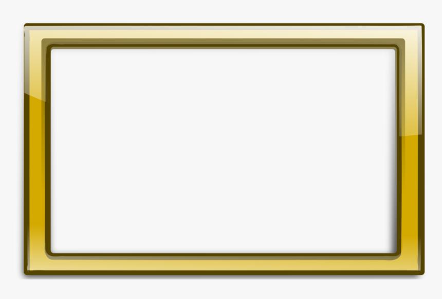 Download Gold Border Frame Png Transparent 262 - Gold Frame Rectangle Png, Png Download, Free Download
