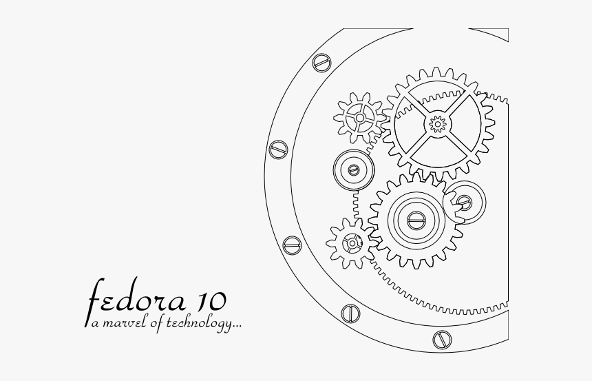 Artwork F10themes Gears Clockwork - Clockwork Art Simple, HD Png Download, Free Download