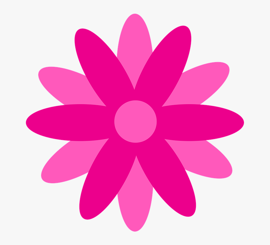 Flor Png Rosa - Flor Rosa Em Png, Transparent Png, Free Download