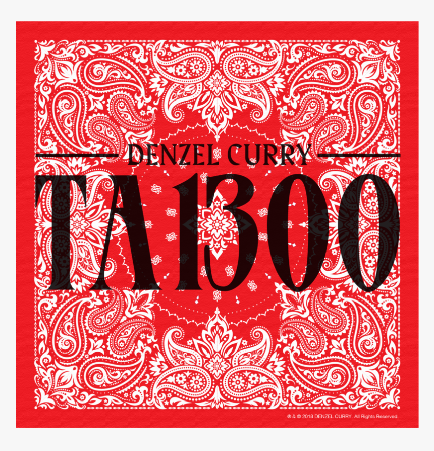 Taboo Denzel Curry Bandana, HD Png Download, Free Download
