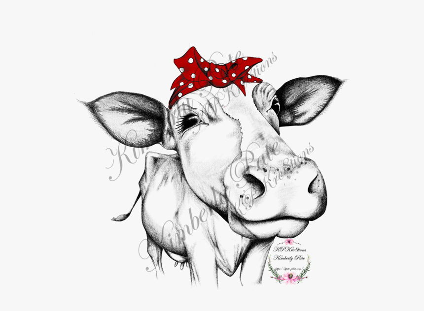 Cow With Bandana Png, Transparent Png, Free Download