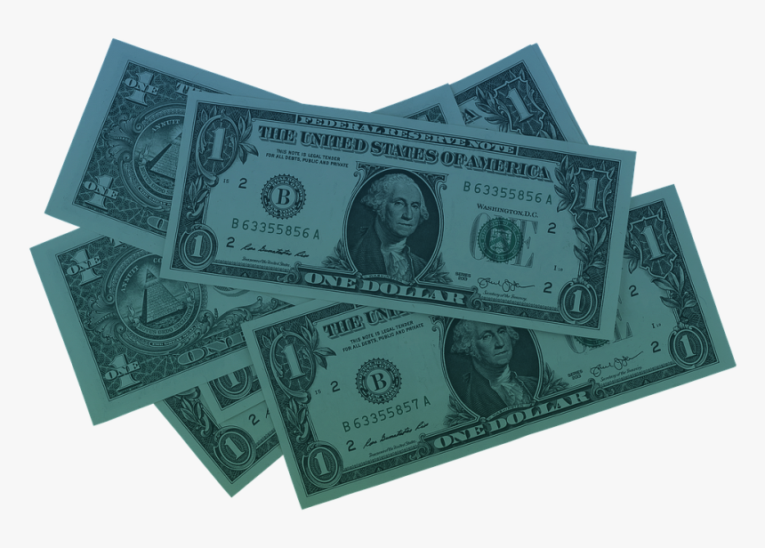 #blue #money #dollar #dollars #blueaesthetic #freetoedit - Dollar Bill, HD Png Download, Free Download