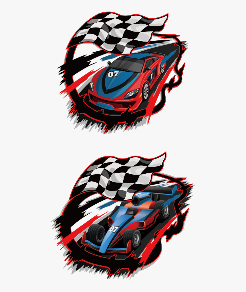 Transparent Drag Racing Clipart - Sport Racing Car Flags, HD Png Download, Free Download