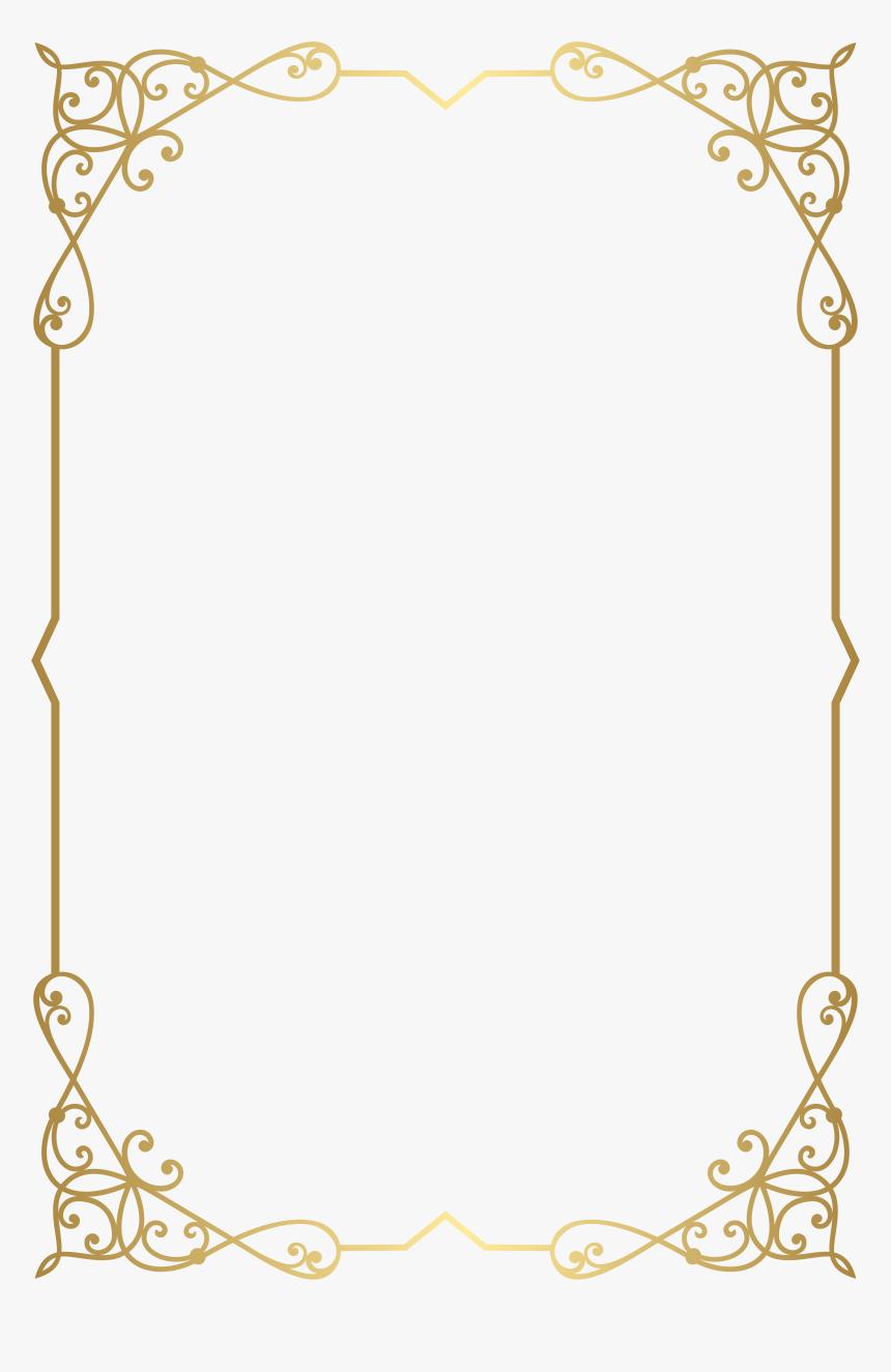 Decorative Frame Border Png Clip Art Image Gallery - Border Gold Frame Png, Transparent Png, Free Download
