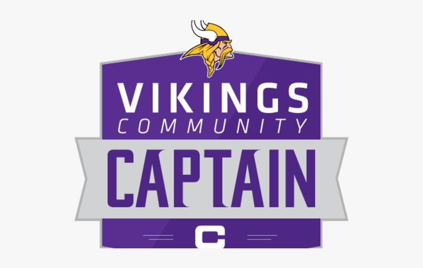 Community Captain - Minnesota Vikings, HD Png Download, Free Download