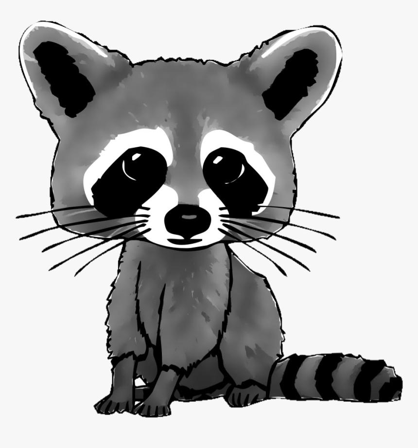 #freetoedit #raccooneyes #cute #racoon #vote4vote #like4like - Cartoon Drawing Of Raccoon, HD Png Download, Free Download