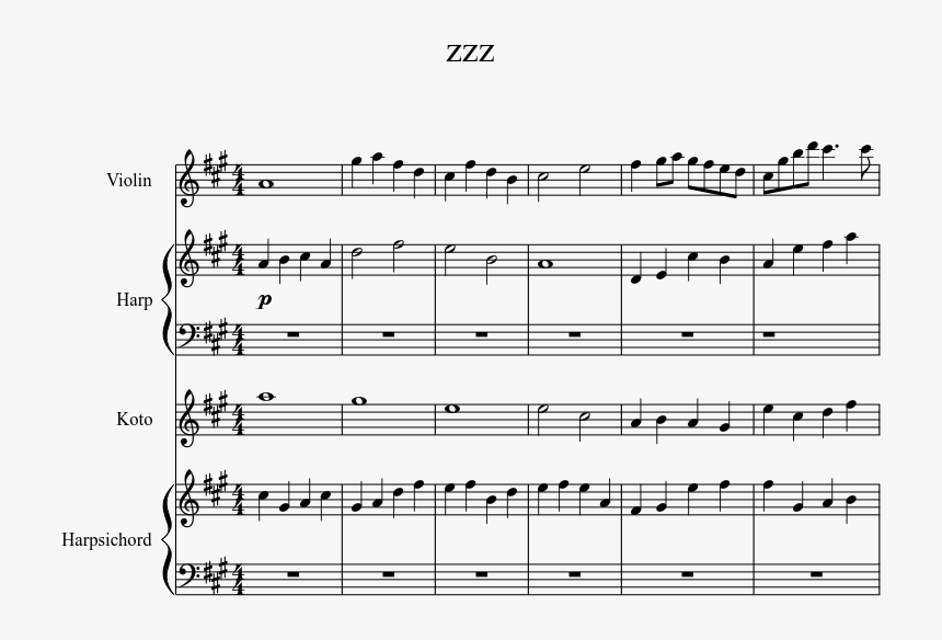 Zzz Sheet Music 1 Of 3 Pages - Sheet Music, HD Png Download, Free Download