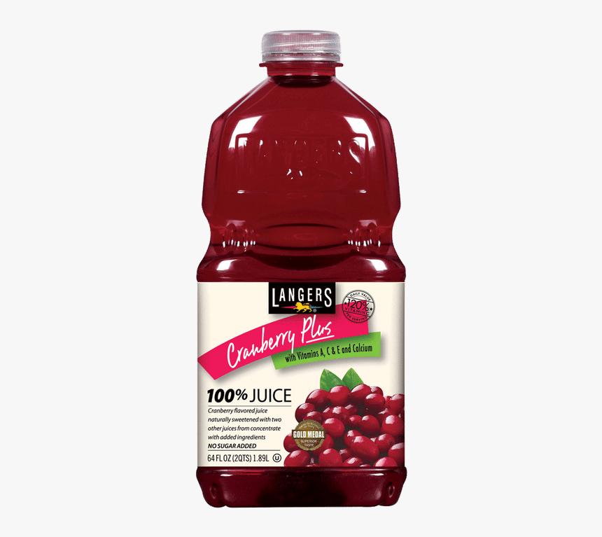 "Langer""s Cranberry Juice - Cranberry Raspberry Juice Cocktail, HD Png Download, Free Download"