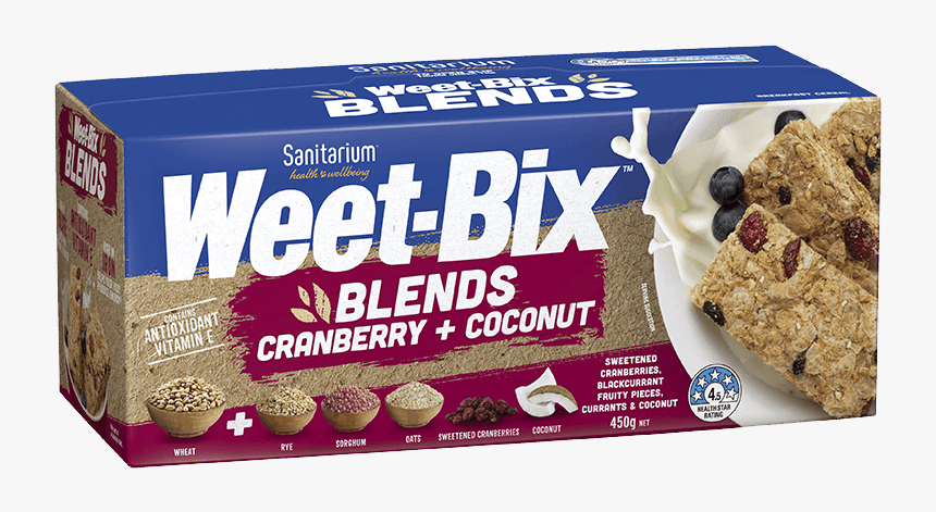 Weet Bix Blends Cranberry Coconut, HD Png Download, Free Download