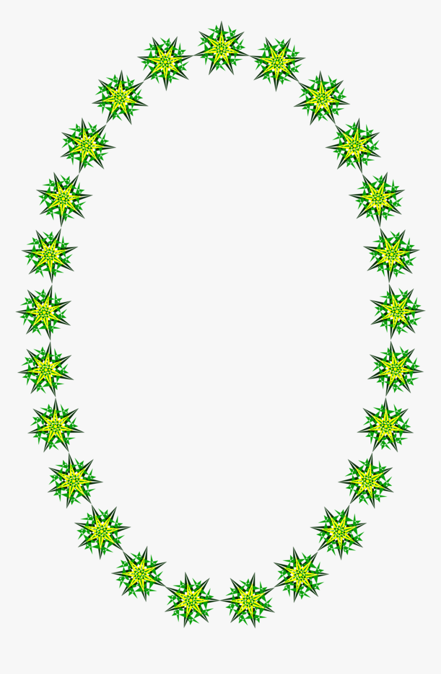 Clipart Star Border Free Download - Oval Shape Border Design, HD Png Download, Free Download