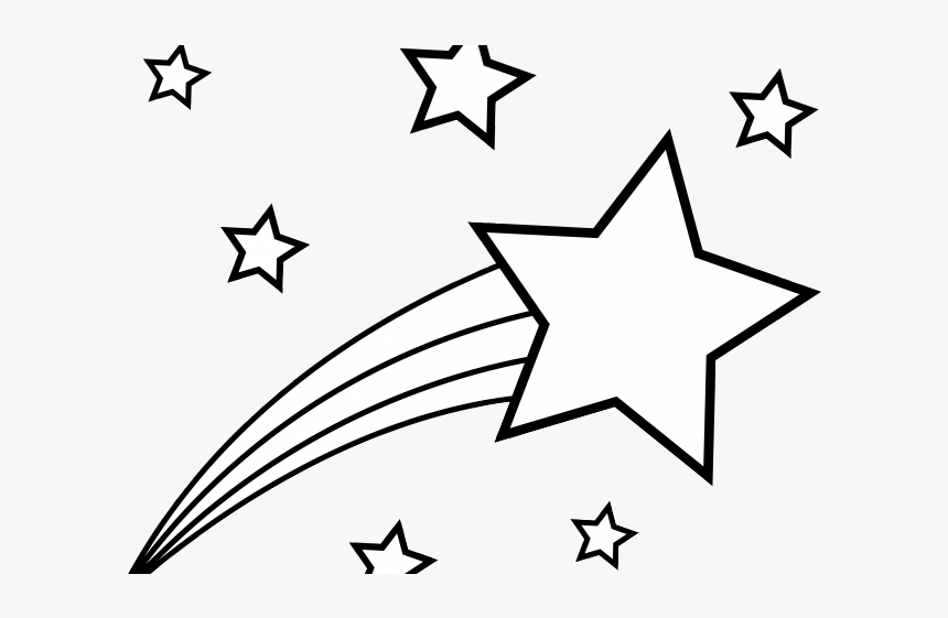 Shooting Star Clipart Black And White, HD Png Download, Free Download